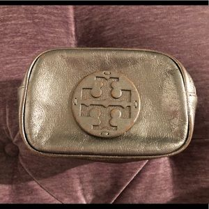 Authentic small Tory Burch makeup bag
